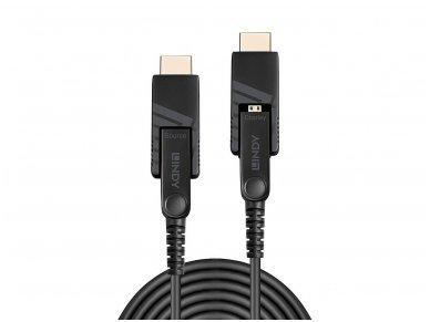 Micro HDMI 2.0, HDMI, DVI optinis kabelis 10m 4K 18G 4