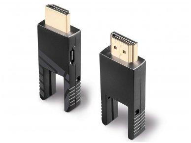Micro HDMI 2.0, HDMI, DVI optinis kabelis 20m 4K 18G 6
