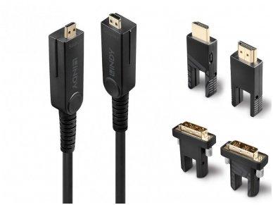 Micro HDMI 2.0, HDMI, DVI optinis kabelis 20m 4K 18G