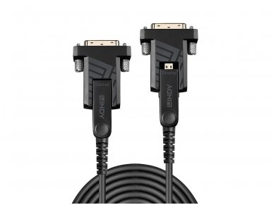 Micro HDMI 2.0, HDMI, DVI optinis kabelis 30m 4K 18G 3