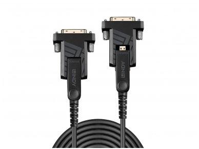 Micro HDMI 2.0, HDMI, DVI optinis kabelis 50m 4K 18G 4