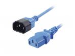Maitinimo kabelis C14 - C13 0.5m, mėlynas, Lindy