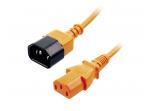 Maitinimo kabelis C14 - C13 1m, oranžinis, Lindy