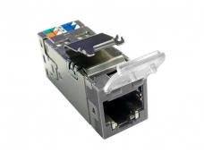 Modulinis lizdas RJ45 cat6 ekr AMP-Twist su dangteliu, pilka