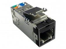 Modulinis lizdas RJ45 cat6 ekranuotas AMP-Twist, juodas