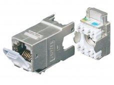 Modulinis lizdas RJ45 cat6 ekranuotas AMP-Twist su dangteliu