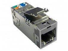 Modulinis lizdas RJ45 cat6A ekranuotas AMP-Twist, pilkas