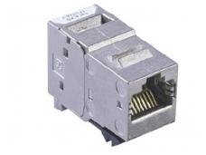 Modulinis lizdas RJ45 cat6A ekranuotas AMP-Twist
