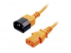 Maitinimo kabelis C14 - C13 0.5m, oranžinis, Lindy