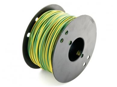 Montažinis laidas 1.5 mm2(geltonas-žalias)