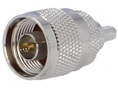N tipo užspaudžiamas kištukas RG58 kabeliui