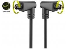 Optinis audio kabelis Toslink kampinis, 1m