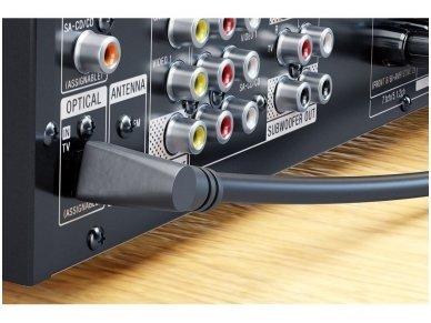 Optinis audio kabelis Toslink kampinis - tiesus, 2m 3