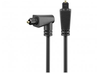 Optinis audio kabelis Toslink kampinis - tiesus, 2m 2