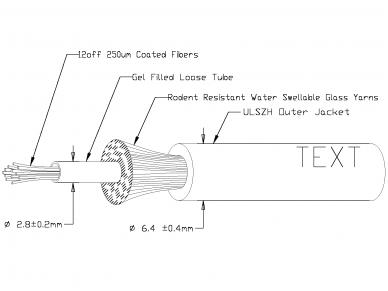 Optinis kabelis 12x50/125 vidinis/išorinis 2