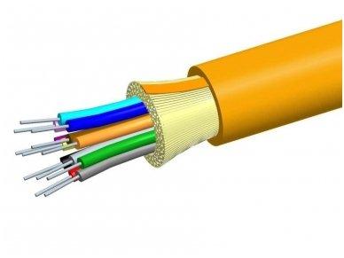 Optinis kabelis 12x50/125 vidinis/išorinis
