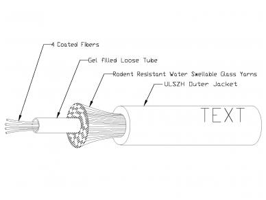 Optinis kabelis 4x50/125 vidinis/išorinis 3