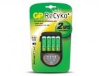 Pakrovėjas GP RECYKO FC4 su 4xAA 2100mA/v