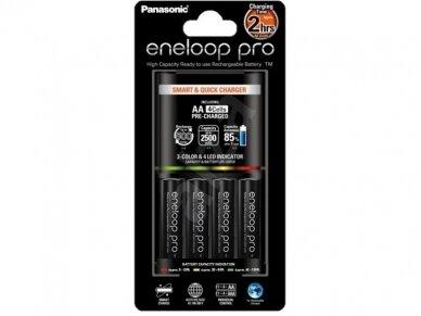 Pakrovėjas  AA, AAA Eneloop Pro su 4xAA 2450mA 3