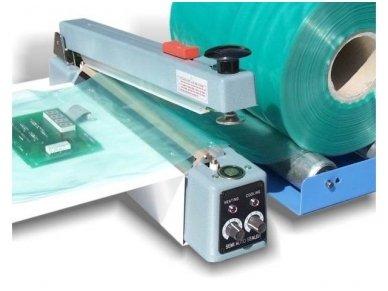 Pakuočių sandariklis su įmontuotu peiliu ir magnetu 400 mm