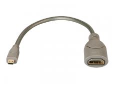 Perėjimas HDMI F - Micro Hdmi M 0,15m