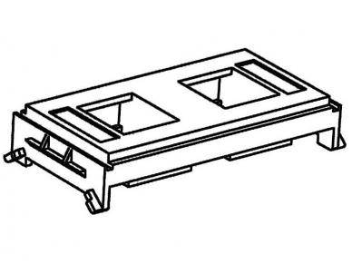 Plokštelė 2xRJ45 2