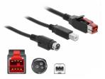 PoweredUSB kabelis 24V į USB B, Hosiden Mini-DIN 3, 1m POS