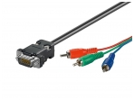 RGB kabelis (VGA - 3xRCA) 2m