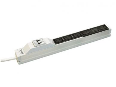 "Rozetynas 6xC19 19"" 1U IEC60309 230V, 32A 3m su autoišjung. 2"