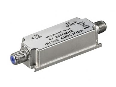 SAT signalo stiprintuvas F, 47-2400MHz, 20dB