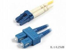 SC/LC dvigubas vienmodis komutacinis kabelis 10m