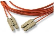SC/SC dvigubas daugiamodis OM2 komut. kabelis 10m