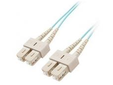 SC/SC dvigubas daugiamodis OM3 komut. kabelis 0,5m