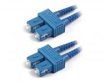 SC/SC dvigubas vienmodis komutacinis kabelis 12m
