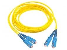 SC/SC dvigubas vienmodis komutacinis kabelis 2 m