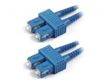 SC/SC dvigubas vienmodis komutacinis kabelis 25m
