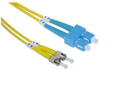 SC/ST dvigubas vienmodis komutacinis kabelis 1m