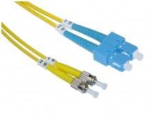 SC/ST dvigubas vienmodis komutacinis kabelis 2m
