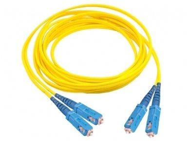 SC/SC dvigubas vienmodis komutacinis kabelis 10m