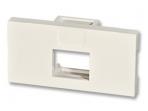 Snap-in 50x25mm modulis vienam keystone lizdui
