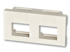 Snap-in 50x25mm modulis dviems keystone lizdams