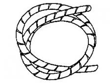Spiralinis apsauginis vamzdelis 13-70mm (25m), baltas