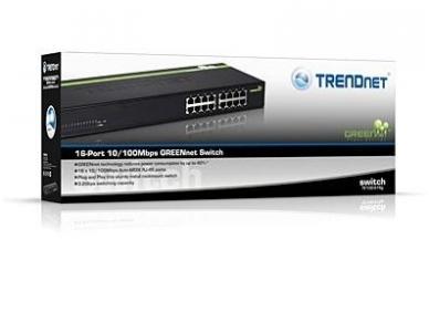 """TE100-S16G 16-port 10/100Mbps komutatorius 19"""" 4"""