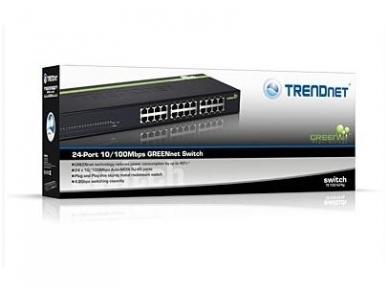 """TE100-S24G 24-port 10/100Mbps komutatorius 19"""" 4"""