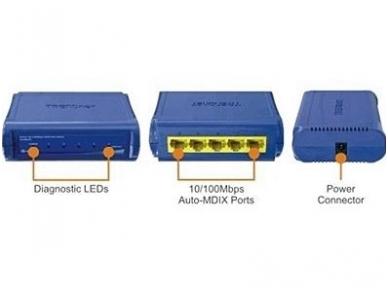 TE100-S5 5-port (5 10/100Mbps) komutatorius 5