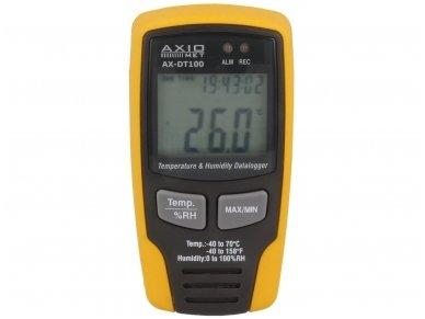 Temperatūros ir drėgmės duomenų logeris AX-DT100