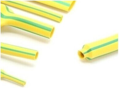 Termovamzdelis 2:1 4/2mm 200m geltonas/žalias, HF