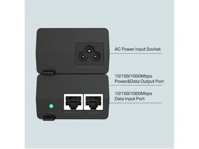 TP-Link TL-PoE160S siųstuvas PoE+ 30W 3