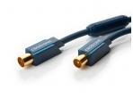 TV anteninis kabelis IEC-F/IEC-M 95dB, 3 m, CLICKTRONIC
