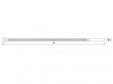 Tvirtinimo dirželiai 140x3.6mm (1000vnt)